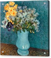 Vase Of Flowers Acrylic Print by Vincent Van Gogh