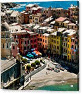 Venazza Cinque Terre Italy Acrylic Print by Xavier Cardell