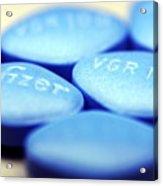 Viagra Pills Acrylic Print by Pasieka