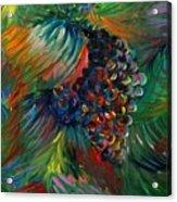 Vibrant Grapes Acrylic Print by Nadine Rippelmeyer
