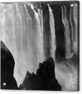 Victoria Falls - C 1911 Acrylic Print by International  Images