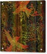 Victorian Humming Bird 3 Acrylic Print by JQ Licensing