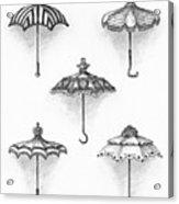 Victorian Parasols Acrylic Print by Adam Zebediah Joseph