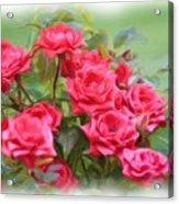 Victorian Rose Garden - Digital Painting Acrylic Print by Carol Groenen