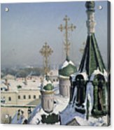 View From A Window Of The Moscow School Of Painting Acrylic Print by Sergei Ivanovich Svetoslavsky