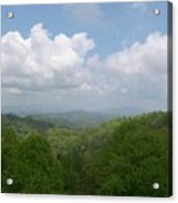 View From Ober Gatlinburg Acrylic Print by Barb Montanye Meseroll