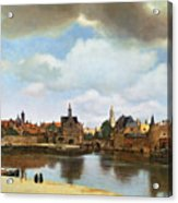 View Of Delft Acrylic Print by Jan Vermeer