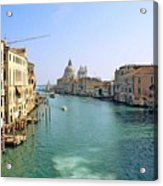 View Of Grand Canal In Venice From Accadamia Bridge Acrylic Print by Michael Henderson