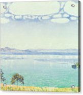View Of Lake Leman From Chexbres Acrylic Print by Ferdinand Hodler