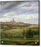 View Of Paris From Butte Aux Cailles Acrylic Print by Jean Baptiste Gabriel Langlace