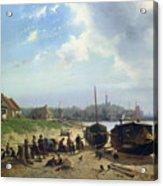 View Of The Dutch Coast Acrylic Print by Johan Gerard Smits