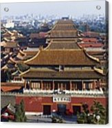 View Of The Forbidden City At Dusk From Acrylic Print by Axiom Photographic