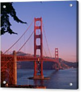 View Of The Golden Gate Bridge Acrylic Print by American School