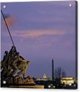 View Of The Iwo Jima Monument Acrylic Print by Kenneth Garrett