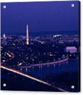 View Of Washington D.c. At Night Acrylic Print by Kenneth Garrett