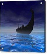 Viking Ship Acrylic Print by Corey Ford