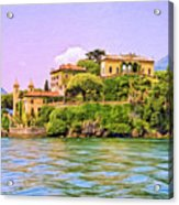 Villa On Lake Como Acrylic Print by Dominic Piperata