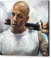 Vin Diesel Acrylic Print by Ylli Haruni