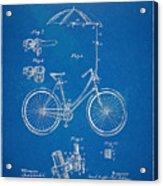 Vintage Bicycle Parasol Patent Artwork 1896 Acrylic Print by Nikki Marie Smith