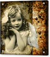 Vintage Collage 22 Acrylic Print by Angelina Cornidez