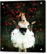 Vintage Dancer Series Raining Rose Petals  Acrylic Print by Cindy Singleton