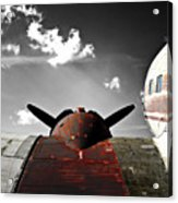 Vintage Dc-3 Aircraft  Acrylic Print by Steven  Digman