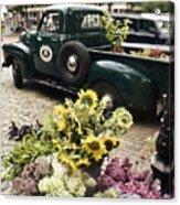 Vintage Flower Truck-nantucket Acrylic Print by Tammy Wetzel