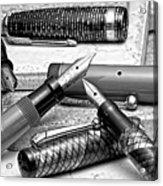 Vintage Fountain Pens Acrylic Print by Tom Mc Nemar
