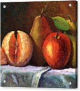 Vintage-fruit Acrylic Print by Linda Hiller