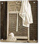 Vintage Laundry Room Acrylic Print by Edward Fielding