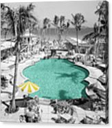 Vintage Miami Acrylic Print by Andrew Fare