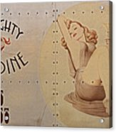 Vintage Nose Art Naughty Nadine Acrylic Print by Cinema Photography