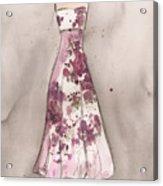 Vintage Romance Dress Acrylic Print by Lauren Maurer