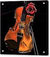 Violin Extreme Acrylic Print by Marsha Heiken
