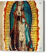 Virgen De Guadalupe Acrylic Print by Bibi Romer