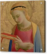 Virgin Annunciate Acrylic Print by Fra Angelico