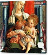 Virgin Mary And Child Acrylic Print by Carlo Crivelli