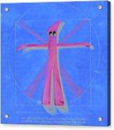 Virtuvian Man Acrylic Print by Judy Sherman