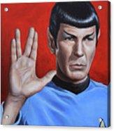 Vulcan Farewell Acrylic Print by Kim Lockman