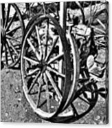 Wagon Wheel Graveyard Acrylic Print by Douglas Barnard