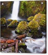 Wahclella Acrylic Print by Mike  Dawson