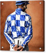 Waiting For Secretariat Acrylic Print by Thomas Allen Pauly