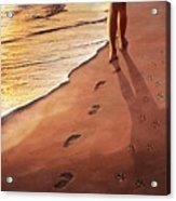 Walk Beside Me Acrylic Print by Cliff Hawley