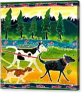 Walk The Dogs Acrylic Print by Harriet Peck Taylor