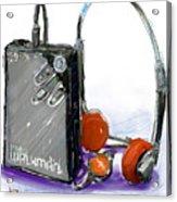 Walkman Acrylic Print by Russell Pierce