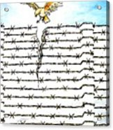 Wall Of Separations Acrylic Print by Paulo Zerbato