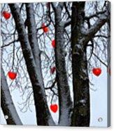 Warm Hearts Color A Tivoli Gardens Acrylic Print by Keenpress