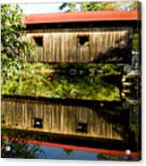 Warner Covered Bridge Acrylic Print by Greg Fortier