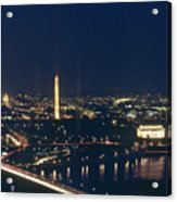 Washington D.c. At Night, Seen Acrylic Print by Kenneth Garrett
