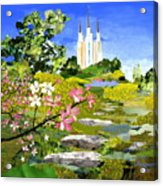 Washington Dc Temple Acrylic Print by Robin Birrell